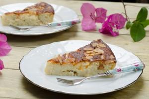 עוגת ריקוטה, לימון ושקדים (ללא גלוטן)