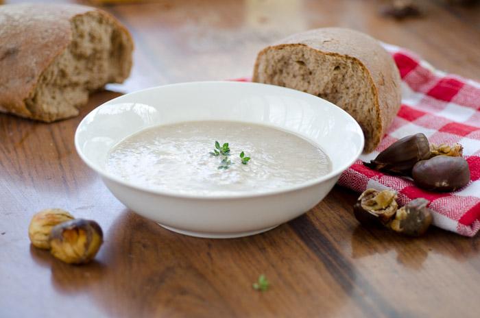 מרק קרם ארטישוק ירושלמי וערמונים