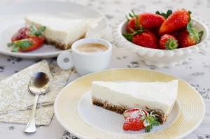 עוגת גבינה אפויה (אפשר ללא גלוטן)
